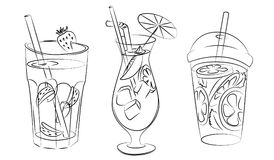 Αναζωογονώντας ποτά ελεύθερη απεικόνιση δικαιώματος