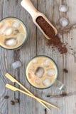 Αναζωογονώντας στιγμιαίος παγωμένος καφές στοκ φωτογραφίες