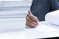 Αναθεώρηση πολλής εργασίας στοκ εικόνες με δικαίωμα ελεύθερης χρήσης