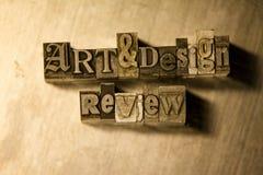 Αναθεώρηση τέχνης & σχεδίου - letterpress μετάλλων γράφοντας σημάδι Στοκ Εικόνες