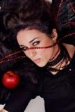 αναιδές πορτρέτο brunette σαγην&epsil Στοκ εικόνες με δικαίωμα ελεύθερης χρήσης