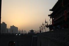 Ανακάλυψη της Κίνας: Αρχαίος τοίχος πόλεων Xian Στοκ Εικόνες