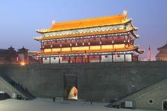 Ανακάλυψη της Κίνας: Αρχαίος τοίχος πόλεων Xian Στοκ Φωτογραφίες