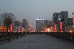 Ανακάλυψη της Κίνας: Αρχαίος τοίχος πόλεων Xian Στοκ φωτογραφία με δικαίωμα ελεύθερης χρήσης