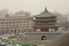 Ανακάλυψη της Κίνας: Πύργος κουδουνιών Xian Στοκ φωτογραφίες με δικαίωμα ελεύθερης χρήσης