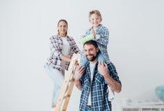 Ανακαίνιση οικογενειακών κατοικιών στοκ εικόνα με δικαίωμα ελεύθερης χρήσης