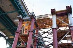 Ανακαίνιση της τεράστιας γέφυρας Στοκ Εικόνα