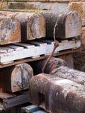 Ανακαίνιση των ιστορικών φραγμών ψαμμίτη του Σίδνεϊ στοκ εικόνα