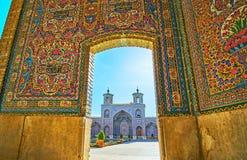 Ανακαλύψτε το ρόδινο μουσουλμανικό τέμενος στη Shiraz, Ιράν στοκ φωτογραφία