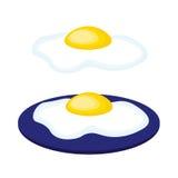 Ανακατωμένα κινούμενα σχέδια αυγά Στοκ Εικόνα