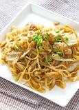 Ανακατώνω-τηγανισμένα νουντλς ρυζιού στοκ φωτογραφίες