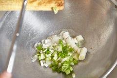 Ανακατώστε τα τηγανητά το πράσο Στοκ Εικόνες