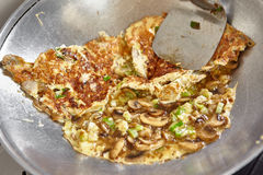 Ανακατώστε την ομελέτα τηγανητών Στοκ Φωτογραφία