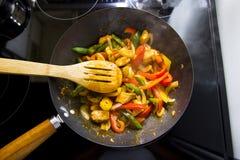 Ανακατώστε την προετοιμασία τηγανητών Στοκ εικόνες με δικαίωμα ελεύθερης χρήσης