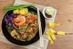 Ανακατώστε την τηγανισμένη γραμμή γυαλιού φυκιών με τις γαρίδες (μαξιλάρι Ταϊλανδός) Στοκ φωτογραφίες με δικαίωμα ελεύθερης χρήσης