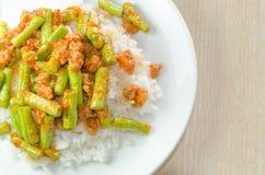 Ανακατώστε την τηγανισμένη κόλλα χοιρινού κρέατος και κάρρυ Στοκ φωτογραφία με δικαίωμα ελεύθερης χρήσης