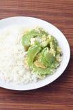 Ανακατώστε την τηγανισμένη πικρή κολοκύθα με το αυγό στο ρύζι στοκ φωτογραφίες με δικαίωμα ελεύθερης χρήσης