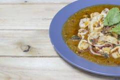 Ανακατώστε τις τηγανισμένες γαρίδες Στοκ Φωτογραφία