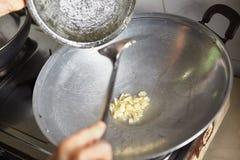 Ανακατώστε το σκόρδο τηγανητών Στοκ εικόνες με δικαίωμα ελεύθερης χρήσης