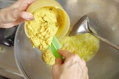 Ανακατώστε το τηγανίζοντας συστατικό Στοκ φωτογραφία με δικαίωμα ελεύθερης χρήσης