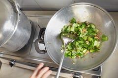 Ανακατώστε το τηγανισμένο κινεζικό λάχανο Στοκ Εικόνα