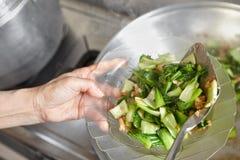 Ανακατώστε το τηγανισμένο κινεζικό λάχανο Στοκ φωτογραφία με δικαίωμα ελεύθερης χρήσης