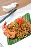 Ανακατώστε το τηγανισμένο penang kway teow προσροφητικών ανθράκων Στοκ φωτογραφία με δικαίωμα ελεύθερης χρήσης