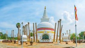 Ανακαλύψτε παλαιότερο Dagoba στη Σρι Λάνκα Στοκ εικόνα με δικαίωμα ελεύθερης χρήσης