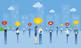 Ανακοίνωση επιχειρηματιών σχετικά με την κοινωνική έννοια δικτύων απεικόνιση αποθεμάτων