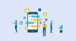 Ανακοίνωση επιχειρηματιών σχετικά με την κοινωνική έννοια δικτύων ελεύθερη απεικόνιση δικαιώματος