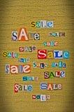 Ανακοίνωση της πώλησης Στοκ Εικόνα