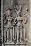 Ανακουφίσεις ναών, Angkor Wat στην Καμπότζη Στοκ εικόνες με δικαίωμα ελεύθερης χρήσης