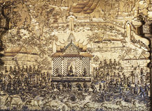Ανακουφίσεις στον τοίχο του ναού Στοκ Εικόνα