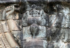 Ανακουφίσεις Angkor Thom, Καμπότζη Στοκ Εικόνα