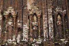 Ανακούφιση και καταστροφή των ινδών ναών στο γιο μου στο Βιετνάμ Στοκ Φωτογραφίες