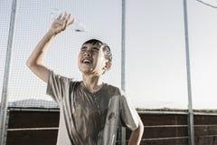 Ανακούφιση με το δροσερό νερό AF μια σκληρή πρακτική στοκ φωτογραφία με δικαίωμα ελεύθερης χρήσης