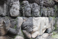 Ανακούφιση ναών Borobudur Στοκ Φωτογραφίες