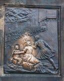 Ανακούφιση ορείχαλκου του ST John Nepomuk Στοκ εικόνες με δικαίωμα ελεύθερης χρήσης