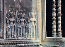 Ανακούφιση Apsara bas σε Angkor Wat Στοκ φωτογραφία με δικαίωμα ελεύθερης χρήσης