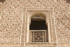 Ανακούφιση Arabesques στο Μαρόκο Στοκ Φωτογραφία