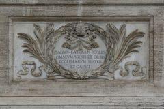 Ανακούφιση Bas κοντά στην είσοδο στη βασιλική του John Lateran στη Ρώμη Στοκ Φωτογραφία