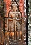 Ανακούφιση Bas σε Angkor wat Στοκ φωτογραφία με δικαίωμα ελεύθερης χρήσης