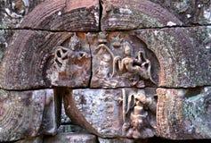 Ανακούφιση Bas σε Angkor wat Στοκ εικόνα με δικαίωμα ελεύθερης χρήσης