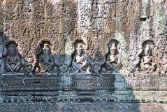 Ανακούφιση Bas στο ναό Preah Khan, Angkor wat Στοκ Εικόνα