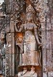 Ανακούφιση Bas του aspara σε Angkor wat Στοκ Φωτογραφία