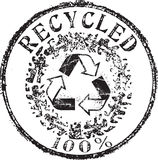 Ανακυκλωμένο γραμματόσημο Στοκ εικόνες με δικαίωμα ελεύθερης χρήσης