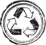 Ανακυκλωμένο γραμματόσημο Στοκ Εικόνες