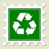 ανακυκλώνοντας γραμματόσημο σημαδιών Στοκ εικόνα με δικαίωμα ελεύθερης χρήσης