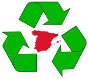 ανακυκλώνοντας Ισπανία Στοκ φωτογραφίες με δικαίωμα ελεύθερης χρήσης
