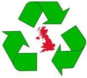 ανακυκλώνοντας UK στοκ εικόνα